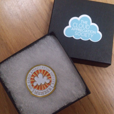 My shiny, new Cloud Appreciation Society member badge!